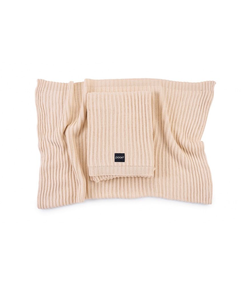 Knitted bamboo blanket Oslo color: apricot