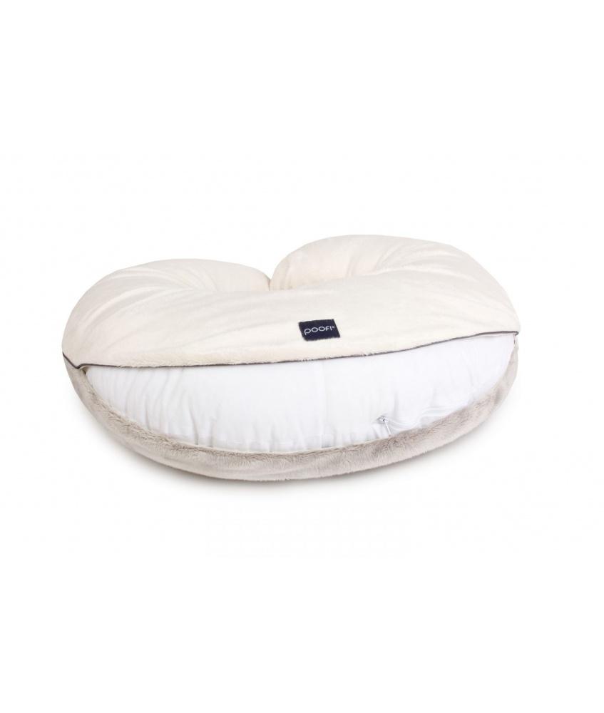 Pillowcase for nursing pillow color: cream and grey