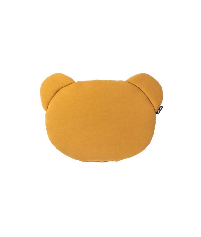 Poduszka Miś kolor: musztardowy i popiel