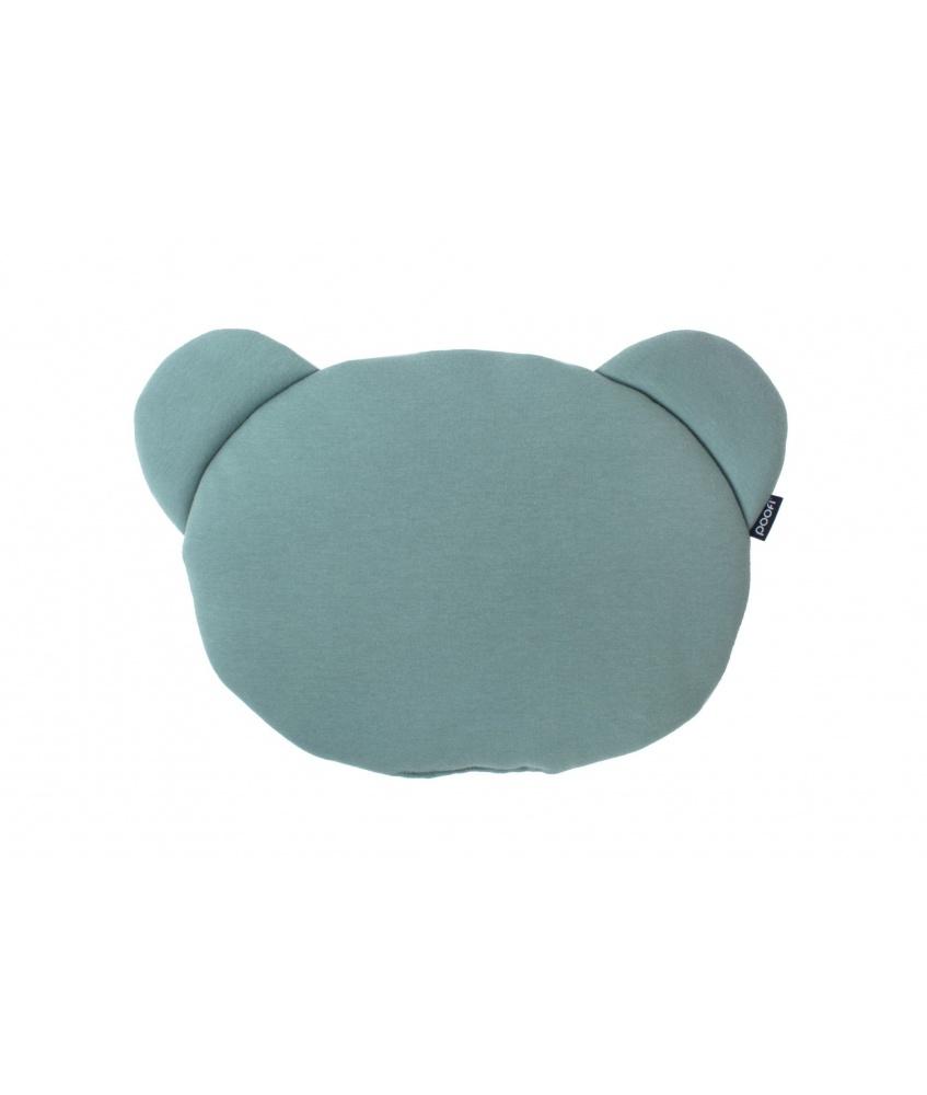 Organic Teddybear Cushion color: petrol and écru