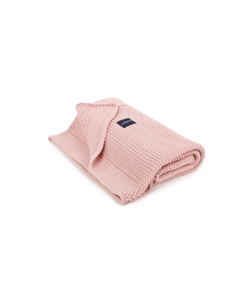 Knitted Classic Organic Blanket color: vintage pink