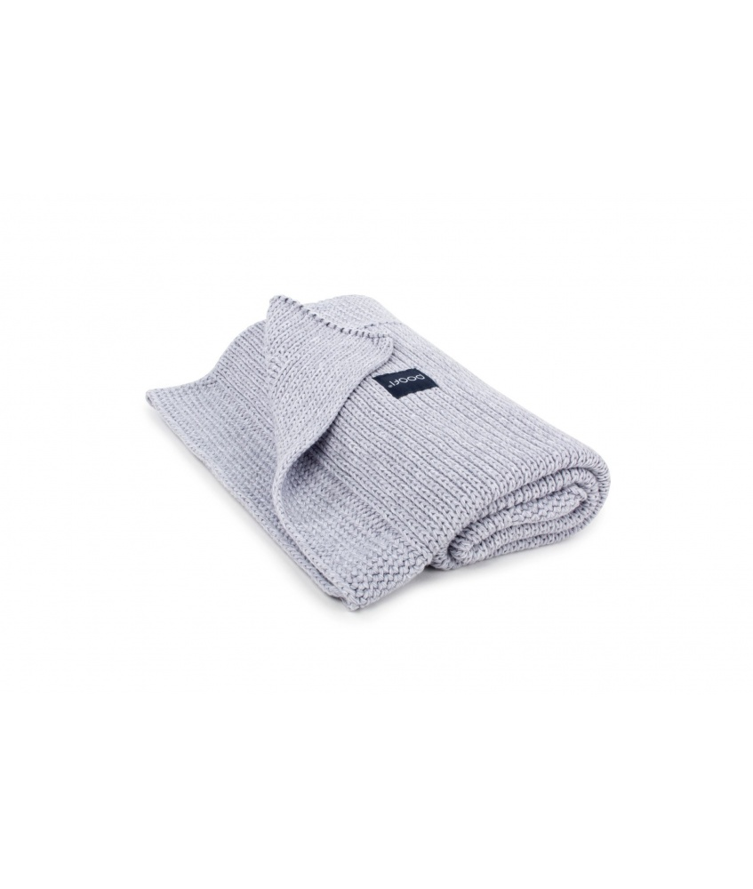 Knitted Classic Organic Blanket color: light grey