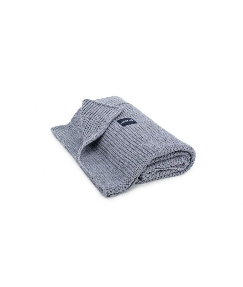 Knitted Classic Organic Blanket color: dark grey