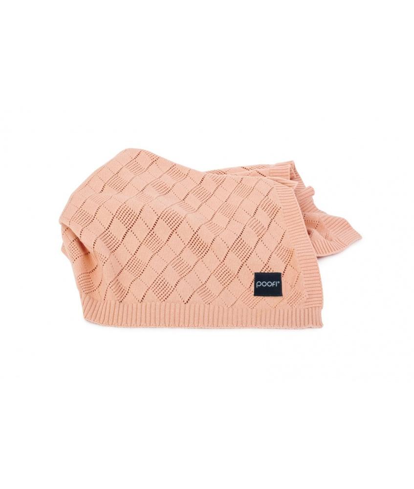 Openwork Knit Blanket: peach