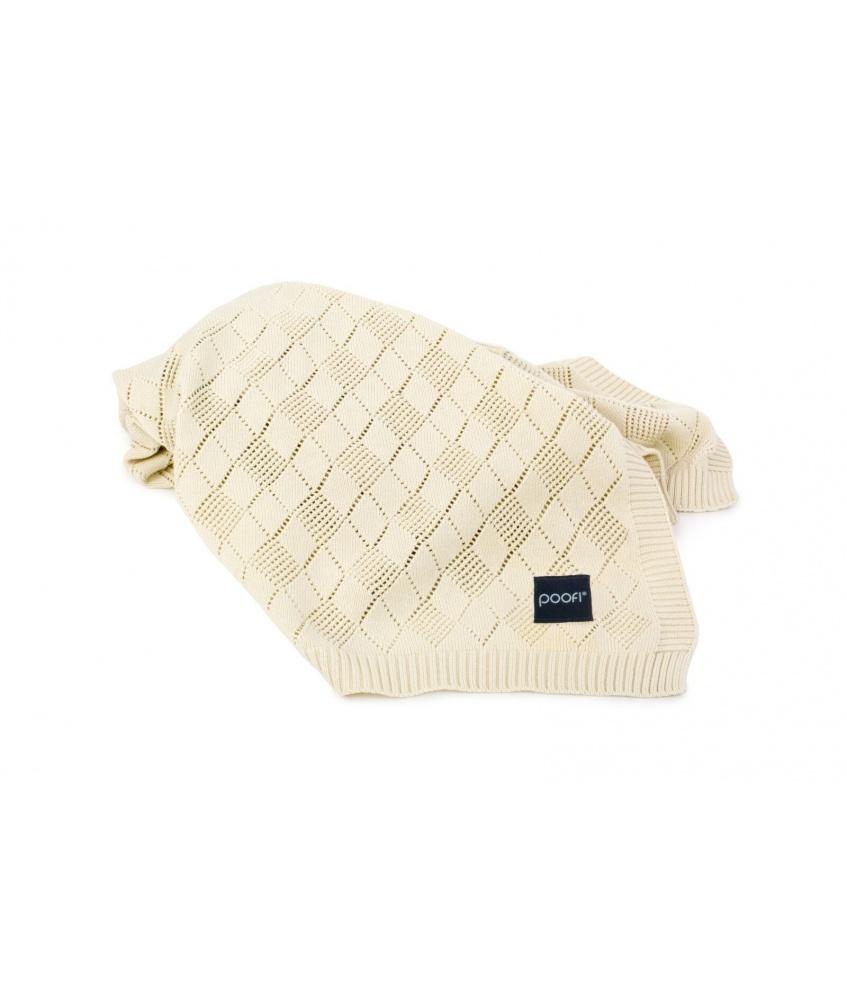 Openwork Knit Blanket: vanilla