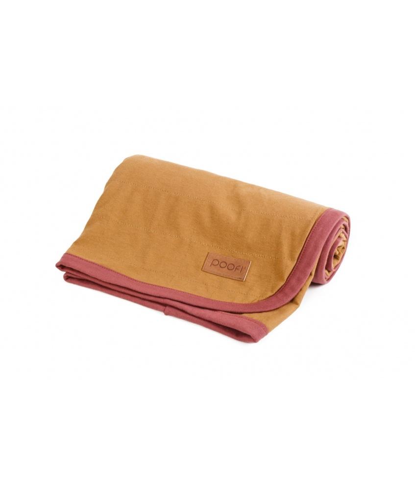 Organic Cotton Blanket color: mustard