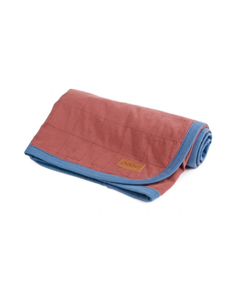 Organic Cotton Blanket color: maroon