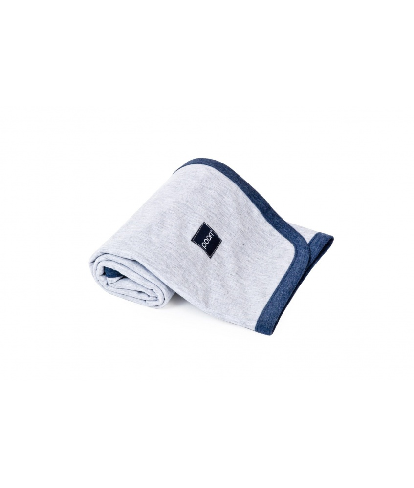 Cotton Blanket color: grey and navy