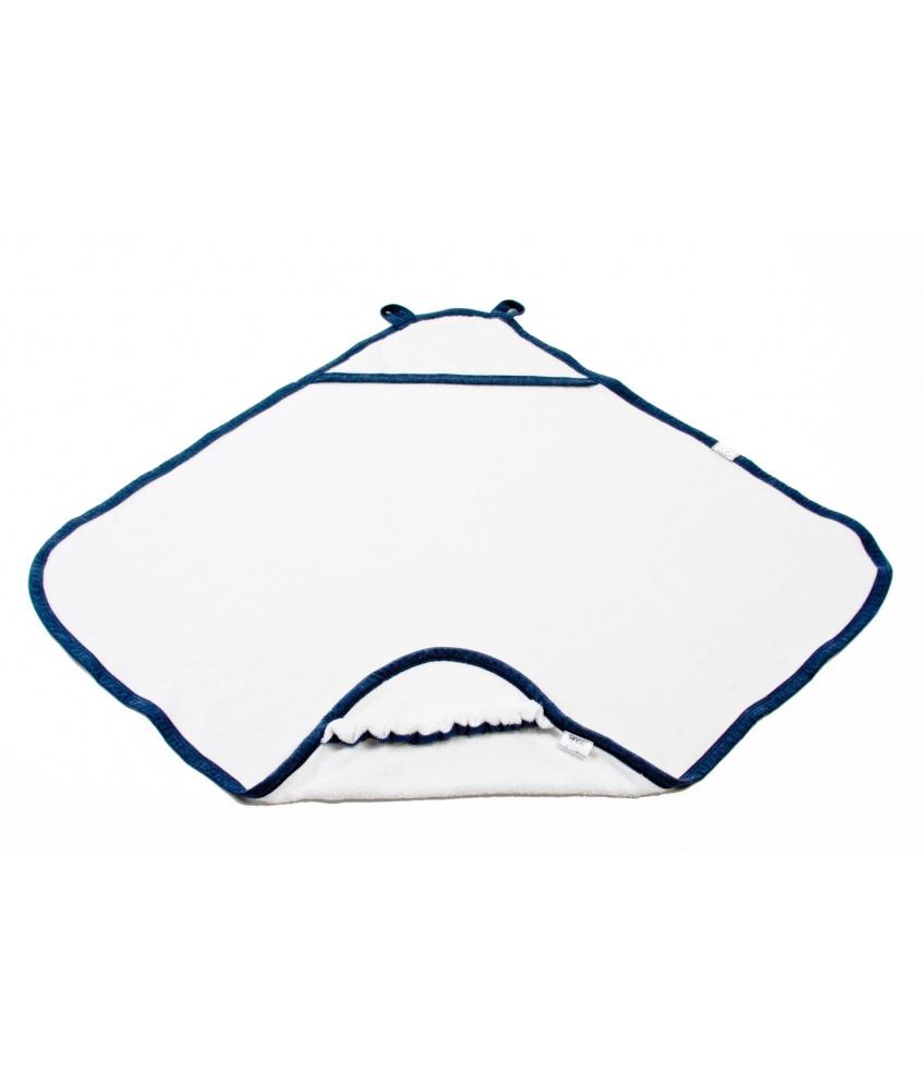 Bawełniany ręcznik z kapturkiem kolor: granatowy