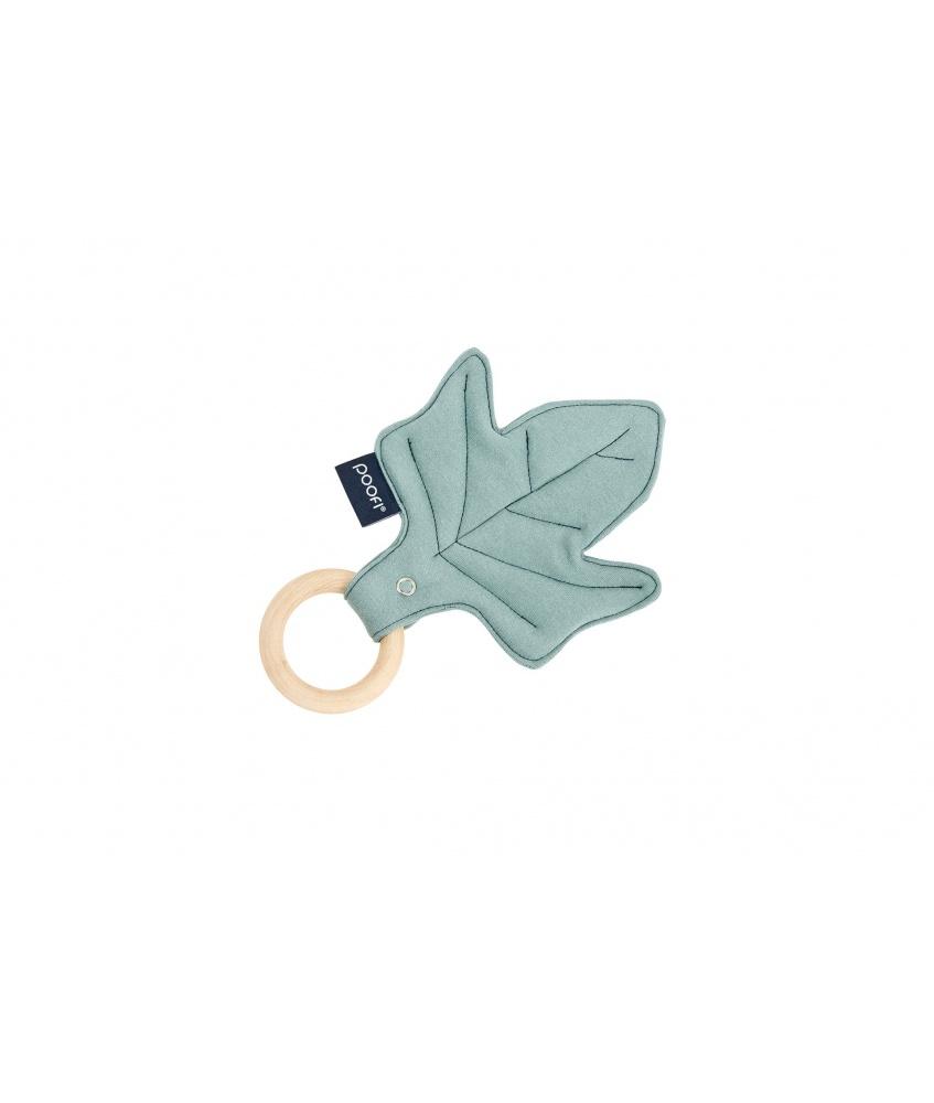 Maple Wood Teether Leaf color: petrol