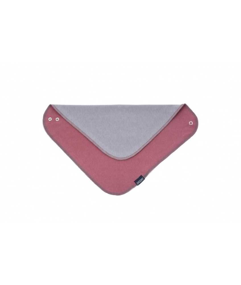Organic Baby Scarf color: maroon and grey