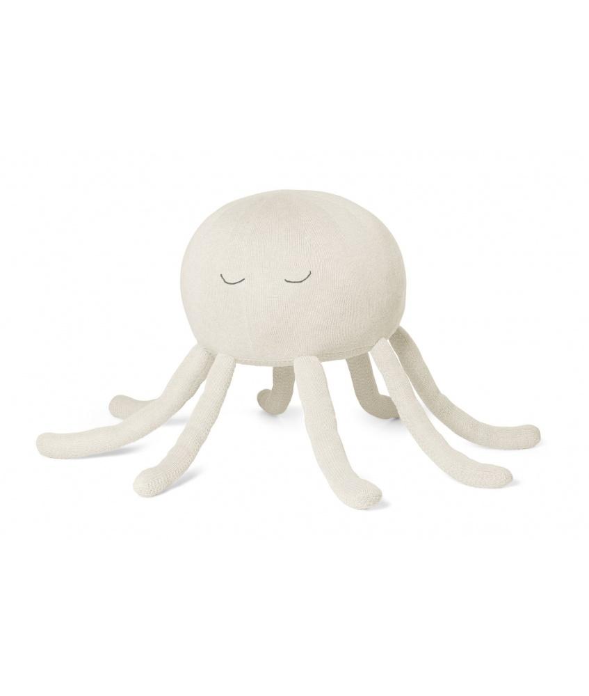 Octopus pouf color: cream