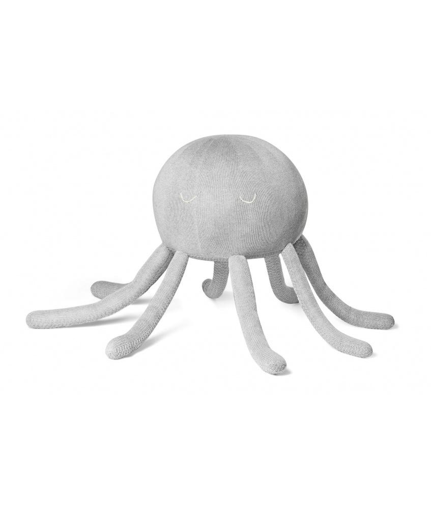 Octopus pouf color: grey
