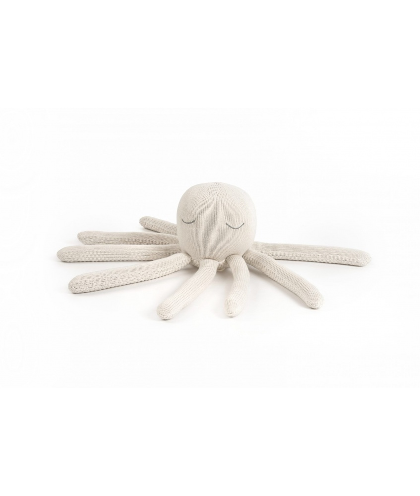 Octopus toy size M color: cream