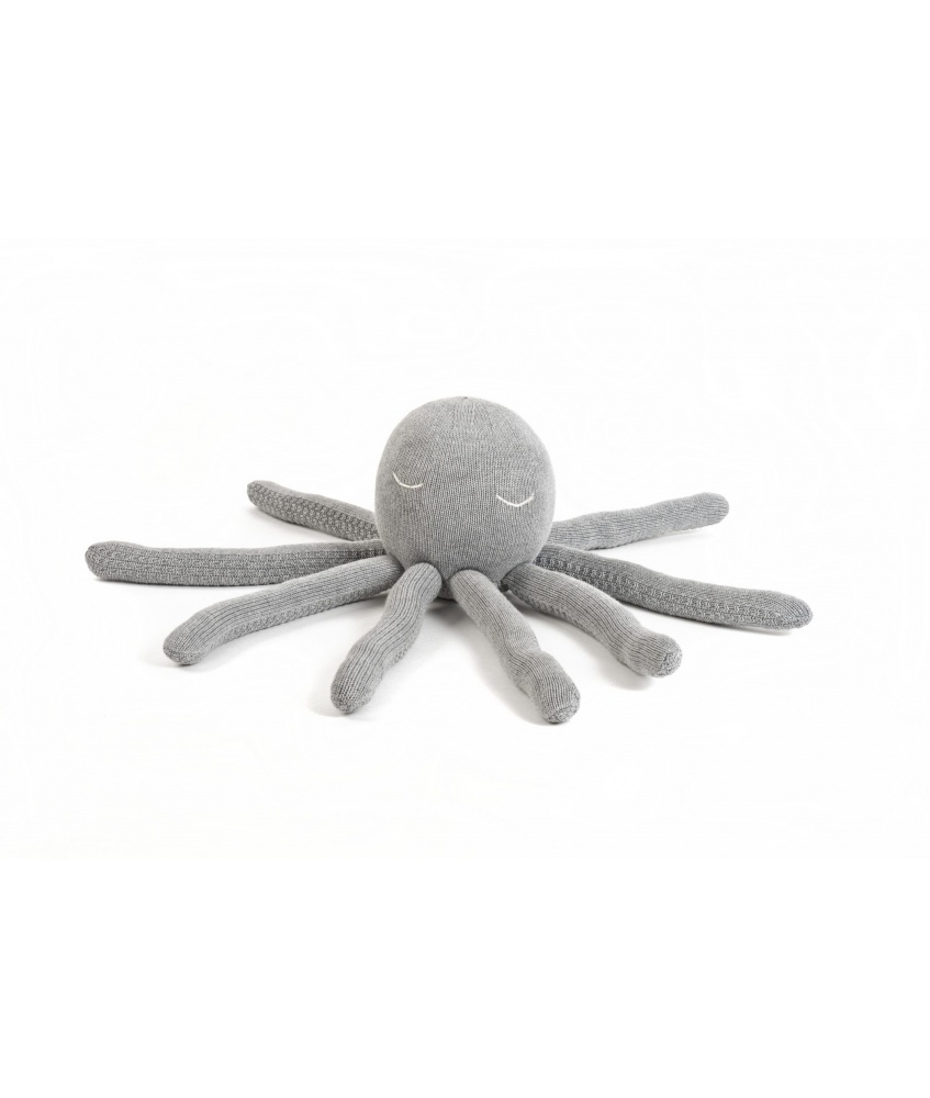 Octopus toy size M color: grey