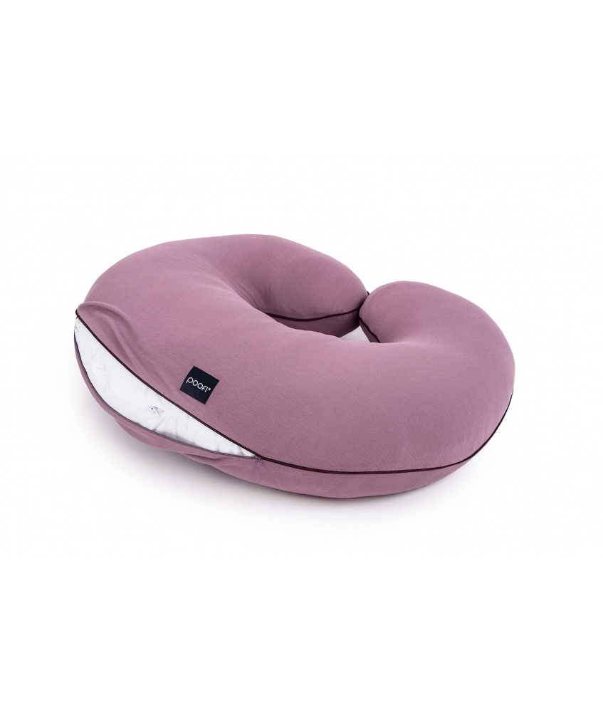Pillowcase for Organic nursing pillow color: mauve
