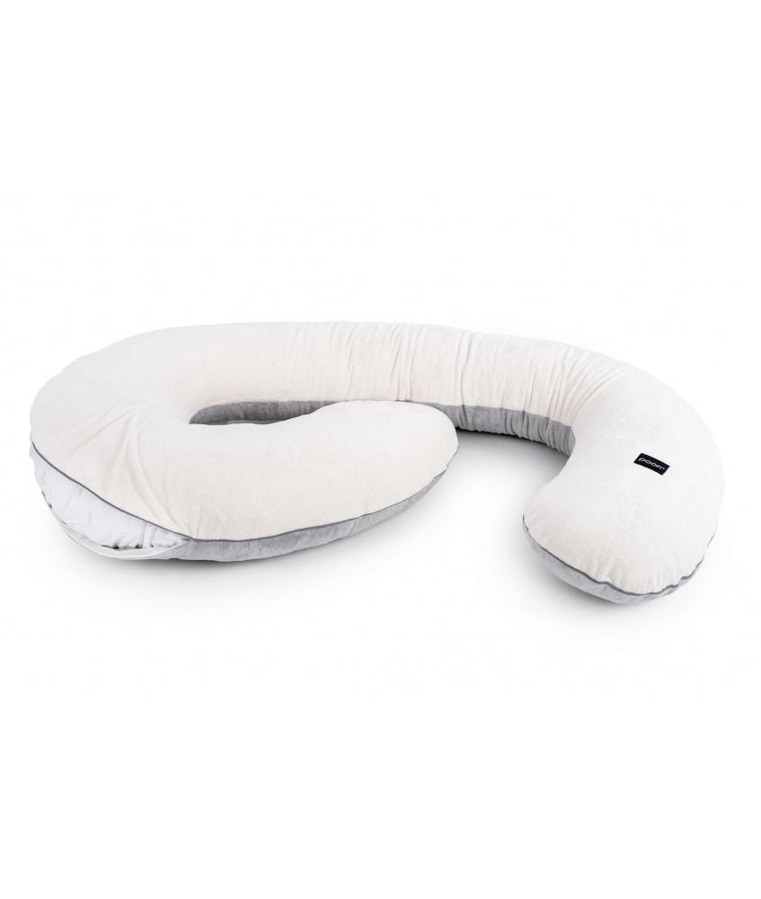Pokrowiec na poduszkę ciążową Minky kolor: kremowo-szary