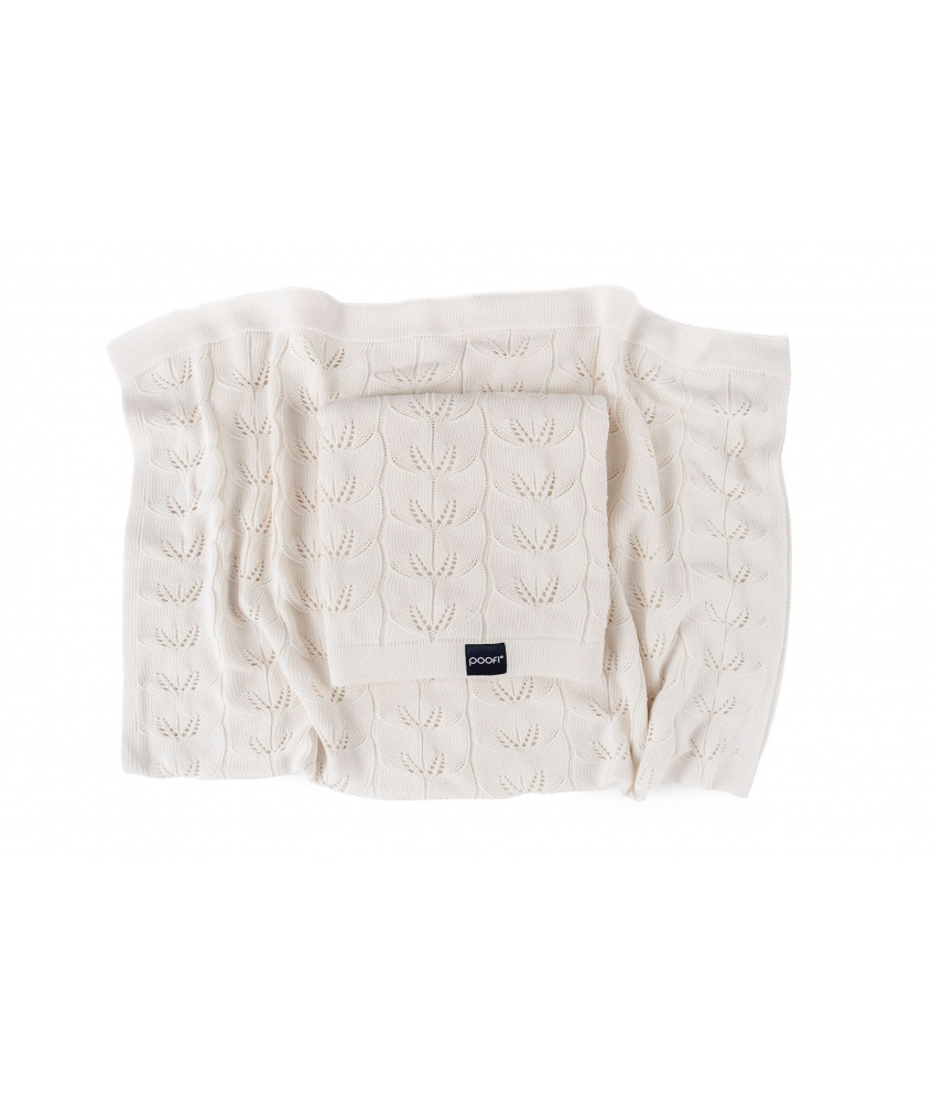 Knitted bamboo blanket Milano color: coco
