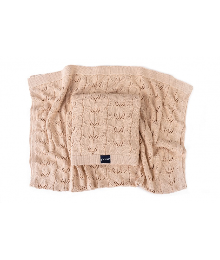 Knitted bamboo blanket Milano color: apricot