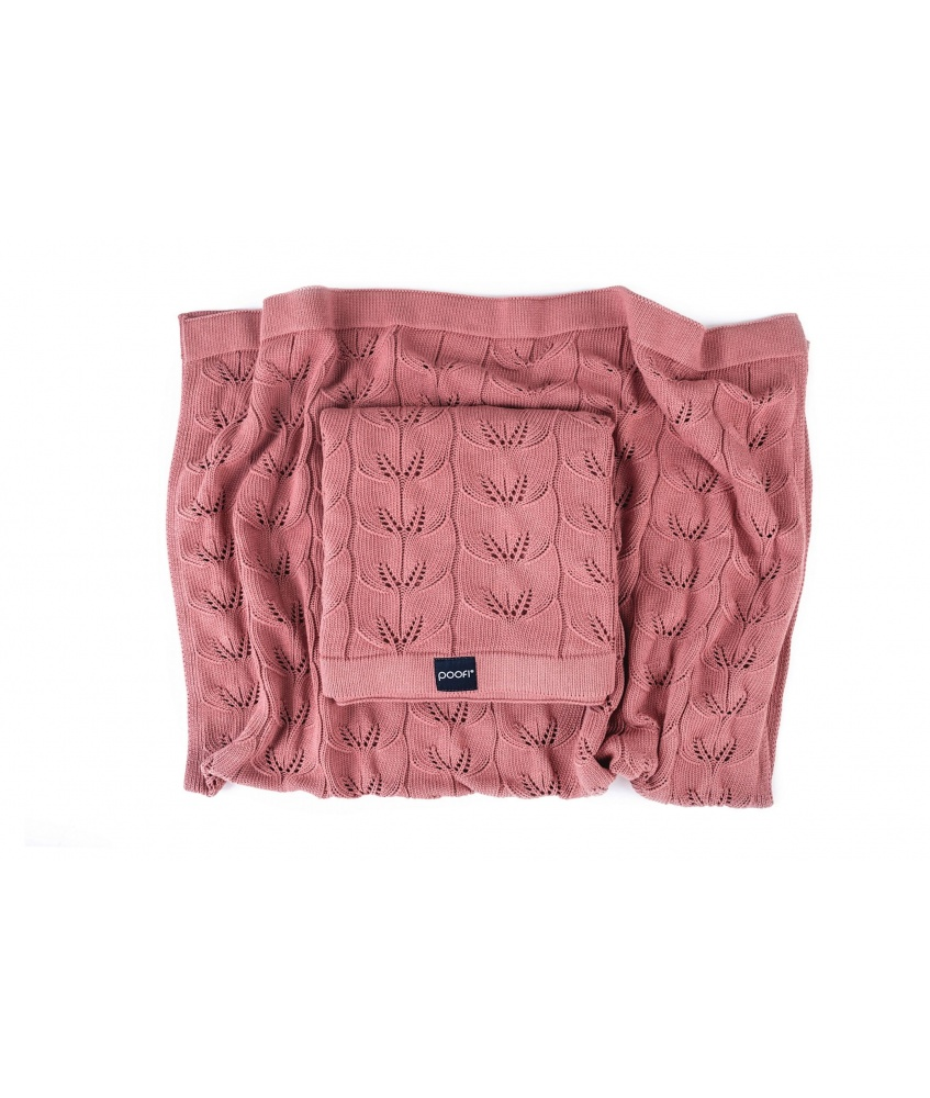 Knitted bamboo blanket Milano color: herbal rose