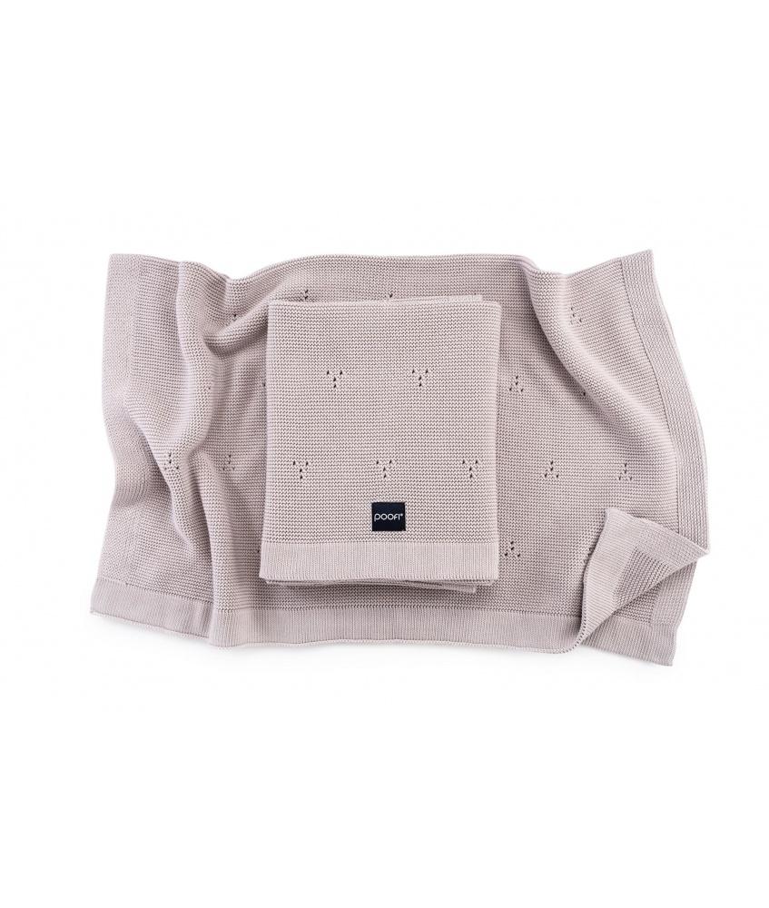 Knitted Cotton Blanket Paris color: light beige
