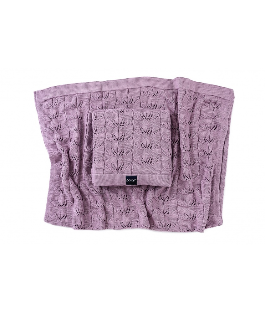 Knitted bamboo blanket Milano color: mauve