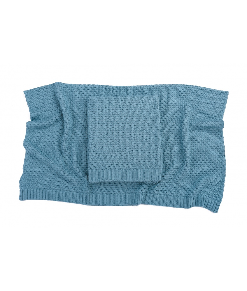 Bamboo blanket color: petrol
