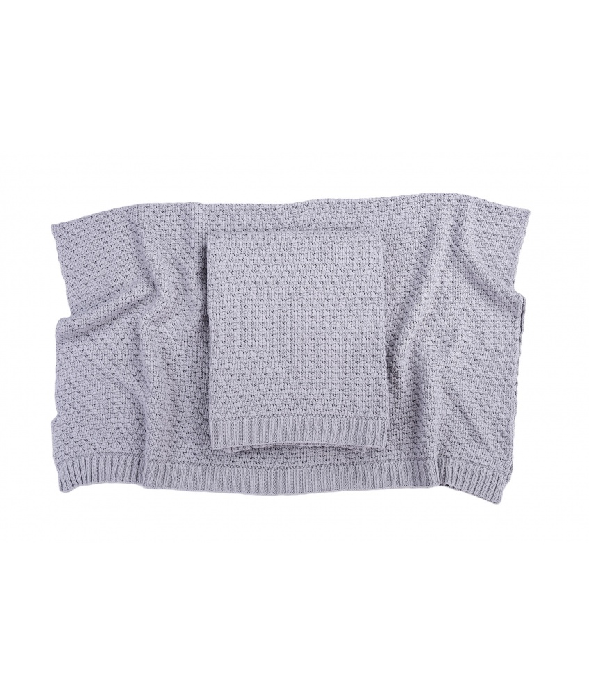 Bamboo blanket color: silver grey